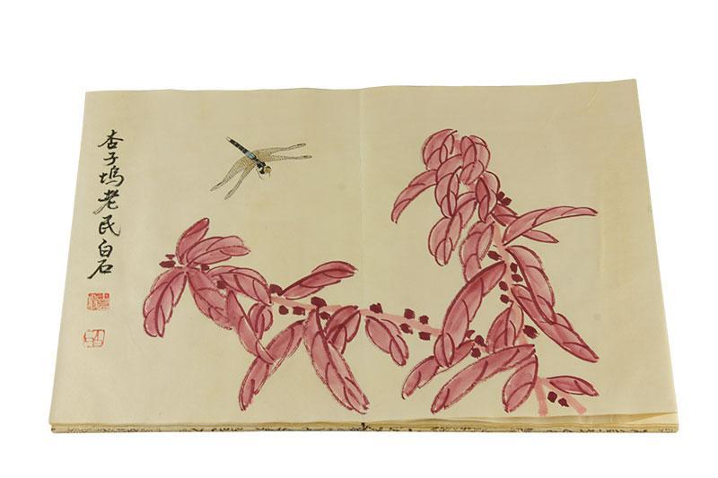 Książka z drzeworytami Qi Baishi, ok. 1950 r. - 1