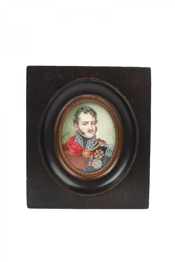 Zestaw 4 miniatur o tematyce patriotycznej, Europa Zachodnia, k. XIX w. - 1