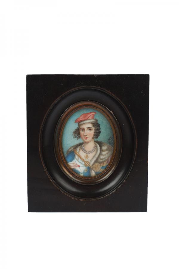 Zestaw 4 miniatur o tematyce patriotycznej, Europa Zachodnia, k. XIX w. - 2