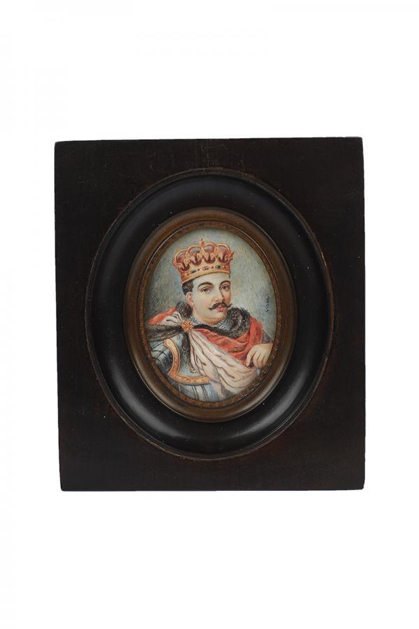 Zestaw 4 miniatur o tematyce patriotycznej, Europa Zachodnia, k. XIX w. - 4