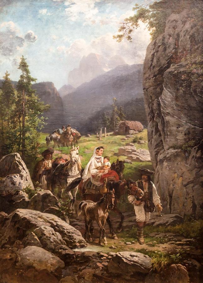 Wędrująca rodzina, 1898 r. - 1