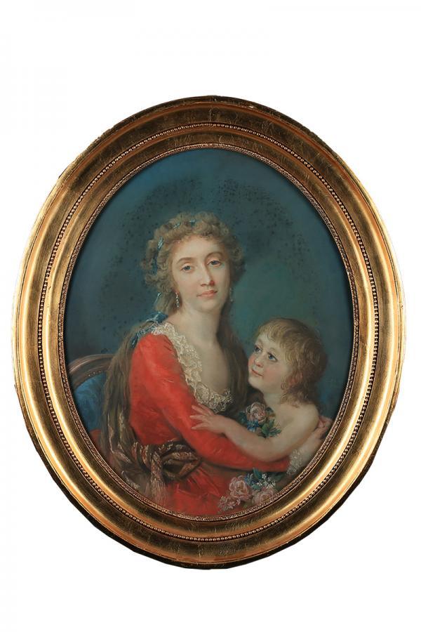 Portret damy z dzieckiem - 1