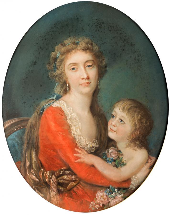 Portret damy z dzieckiem - 2