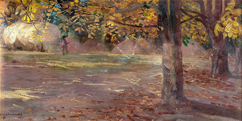 Pejzaż z drzewami (Wielgie), 1895 r. - 1