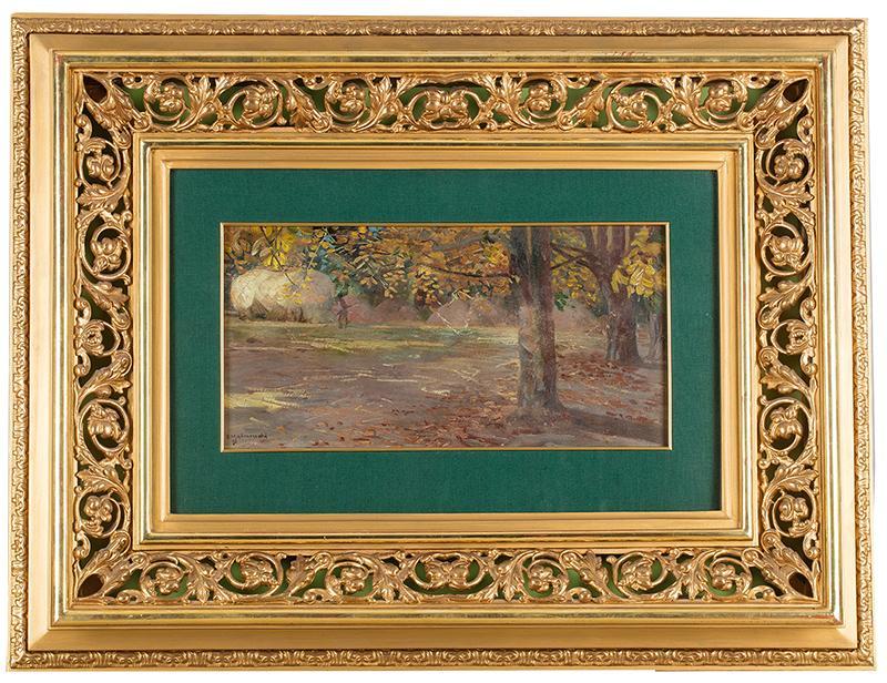 Pejzaż z drzewami (Wielgie), 1895 r. - 2