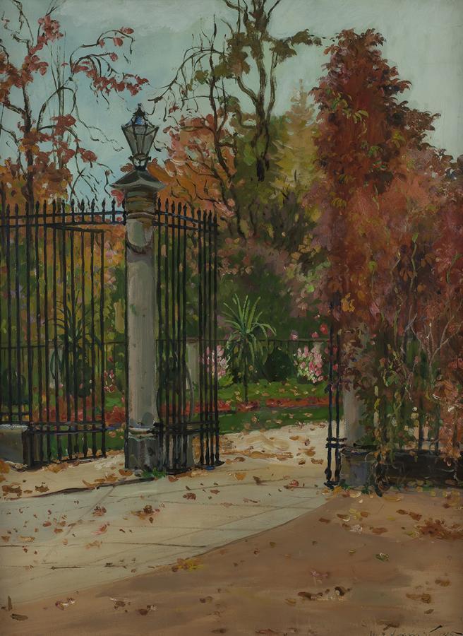Wejście do Ogrodu Botanicznego w Warszawie, 1925 r. - 1