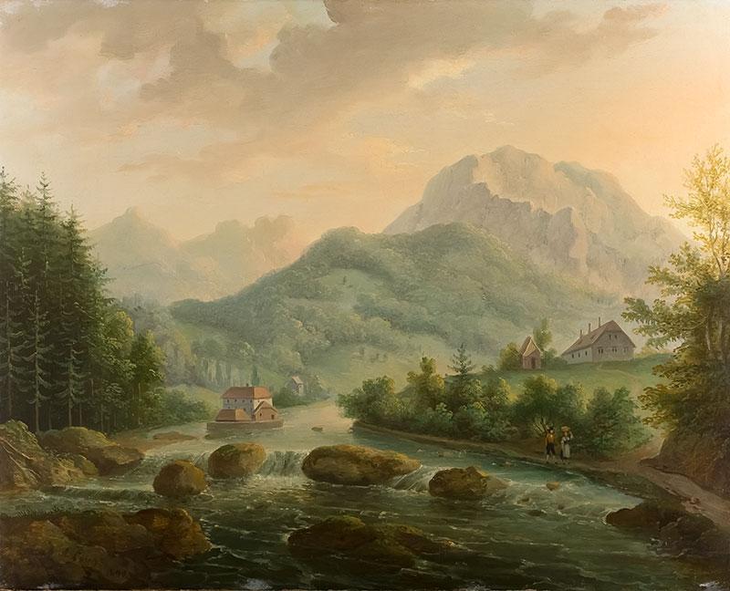 Nad potokiem, 1840 r. - 1