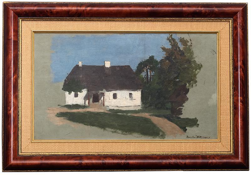 Studium pejzażowe z chatą i drzewami, l. 70.–80.XIX w. - 2