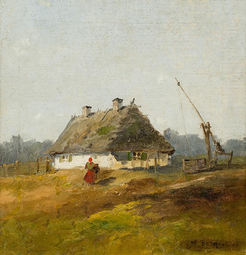 Przed chatą, k. XIX w. - 2