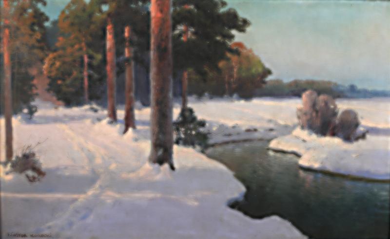 Strumyk zimą, przed 1945 r. - 2
