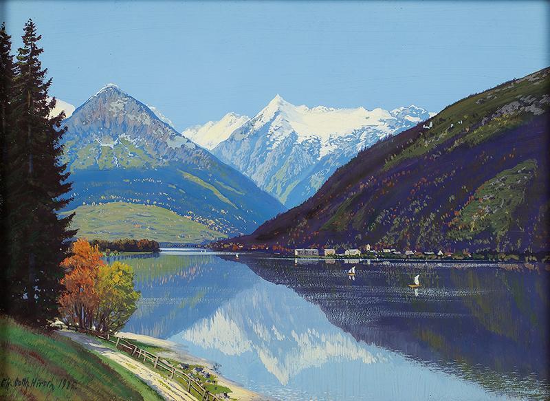 Pejzaż alpejski, 1925 r. - 2