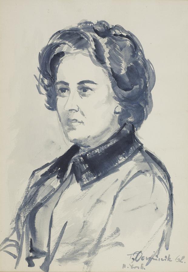 Portret Zofii Jordanowskiej, 1962 r. - 2