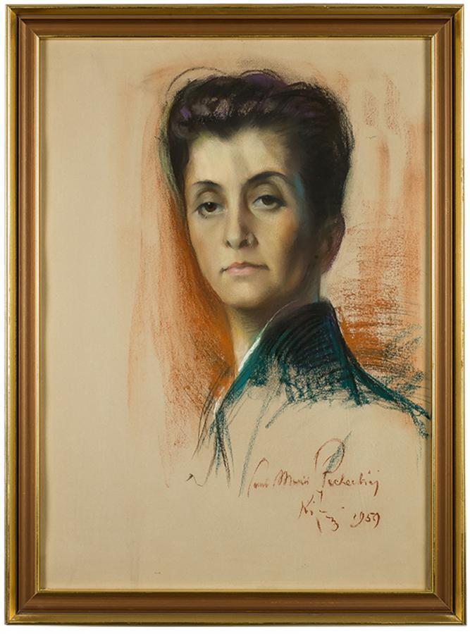 Portret kobiety (Maria Płachecka), 1959 r. - 1