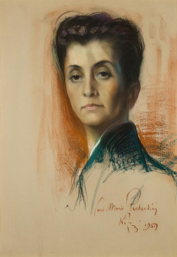 Portret kobiety (Maria Płachecka), 1959 r. - 2