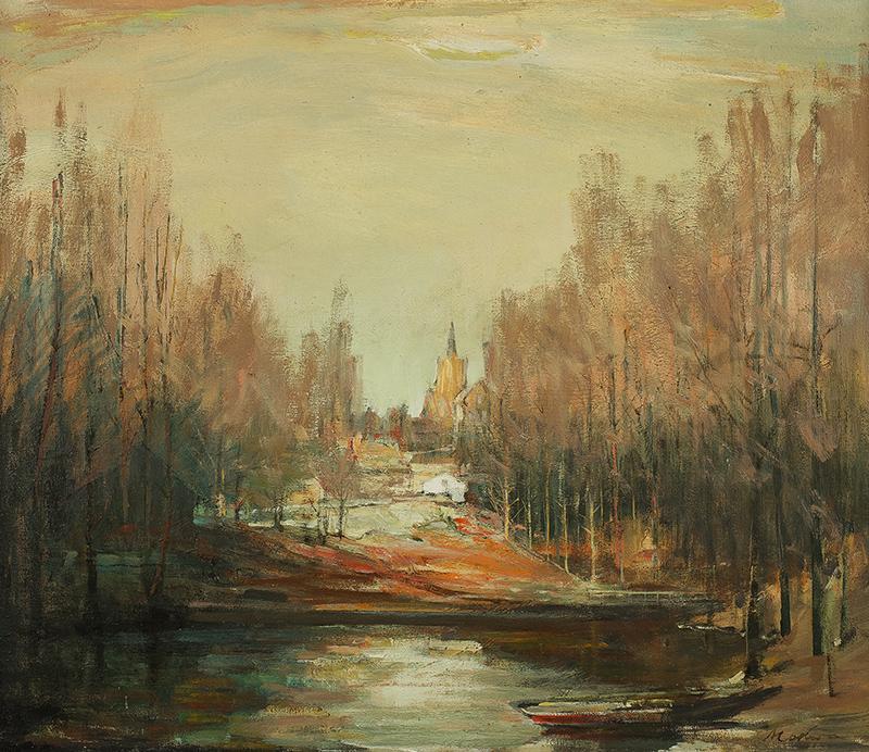 Widok z Kościerzyny, ok. 1960 r. - 2