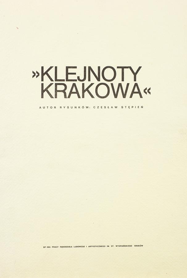 Klejnoty Krakowa - teka z 9 litografiami - 10