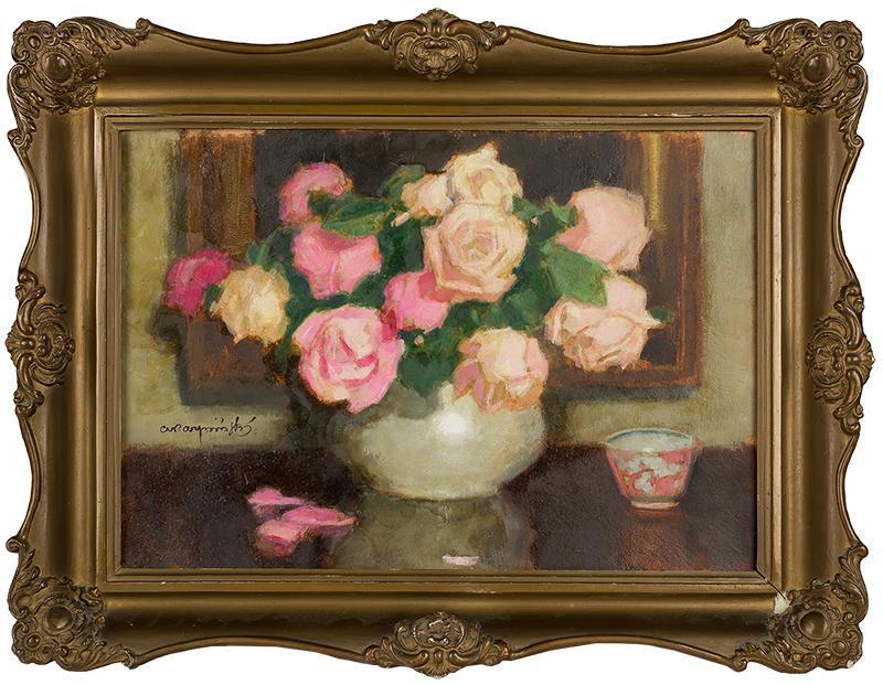 Różowe róże w wazonie - 2