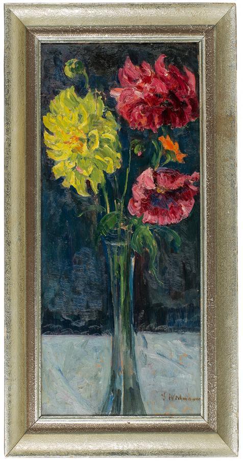 Kwiaty w szklanym wazonie - 2
