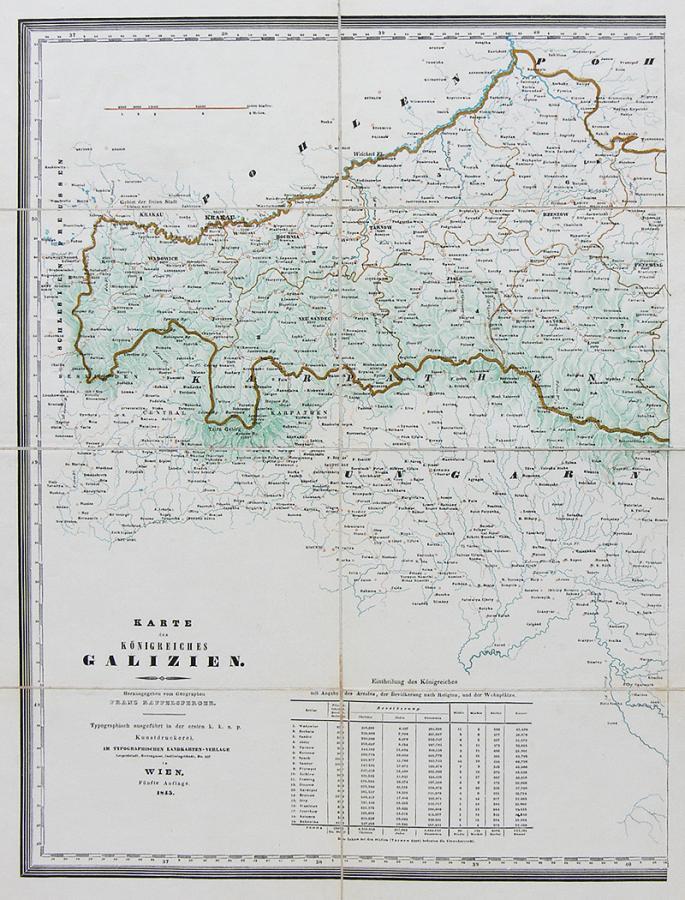 Karte des Königreiches Galizien. - 1