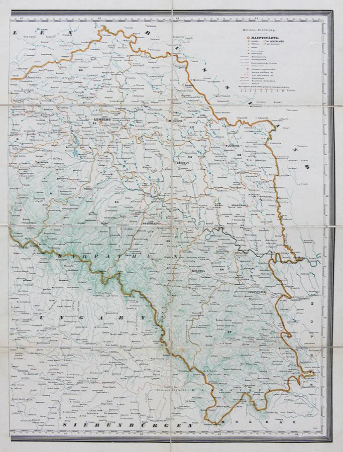 Karte des Königreiches Galizien. - 2