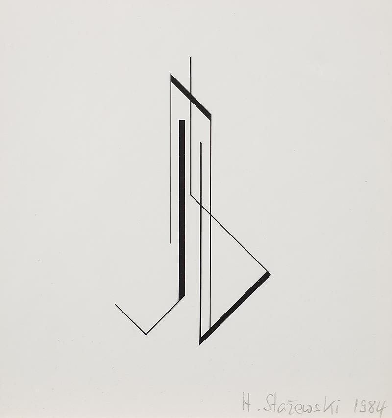 Kompozycja geometryczna, tryptyk, 1984 r. - 1