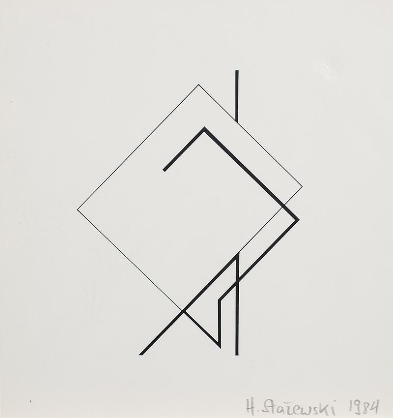 Kompozycja geometryczna, tryptyk, 1984 r. - 2