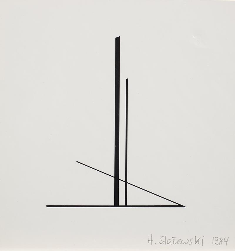 Kompozycja geometryczna, tryptyk, 1984 r. - 3