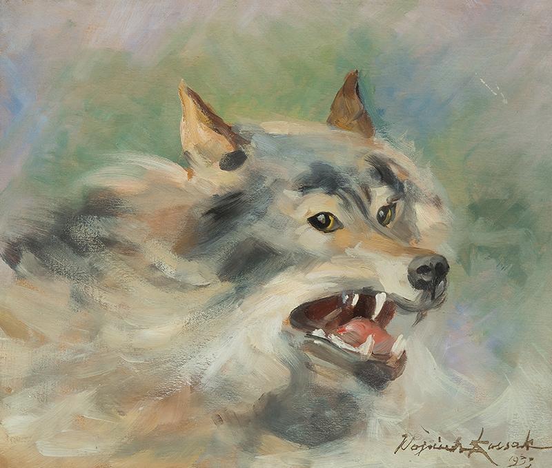 Głowa wilka, 1933 r. - 2