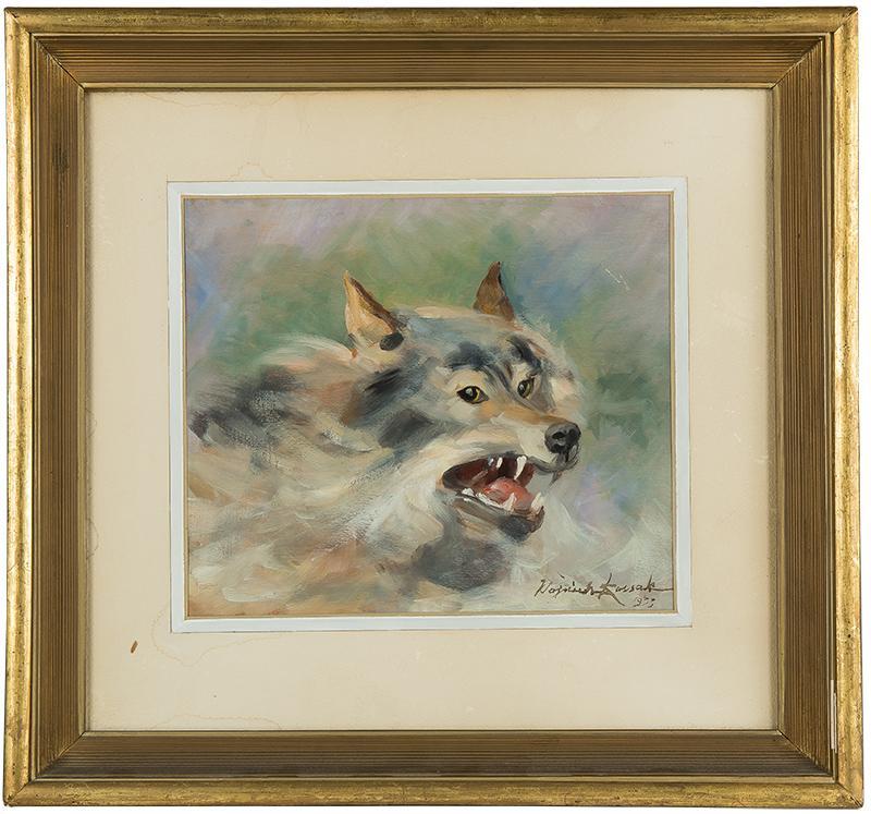 Głowa wilka, 1933 r. - 3