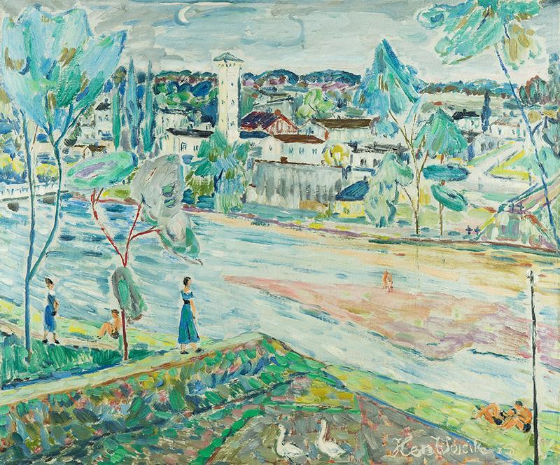 Pejzaż znad Pilicy, 1955 r. - 2