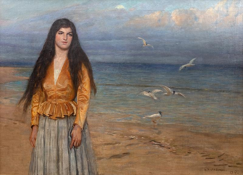 Dziewczyna na tle morza, 1917 r. - 1