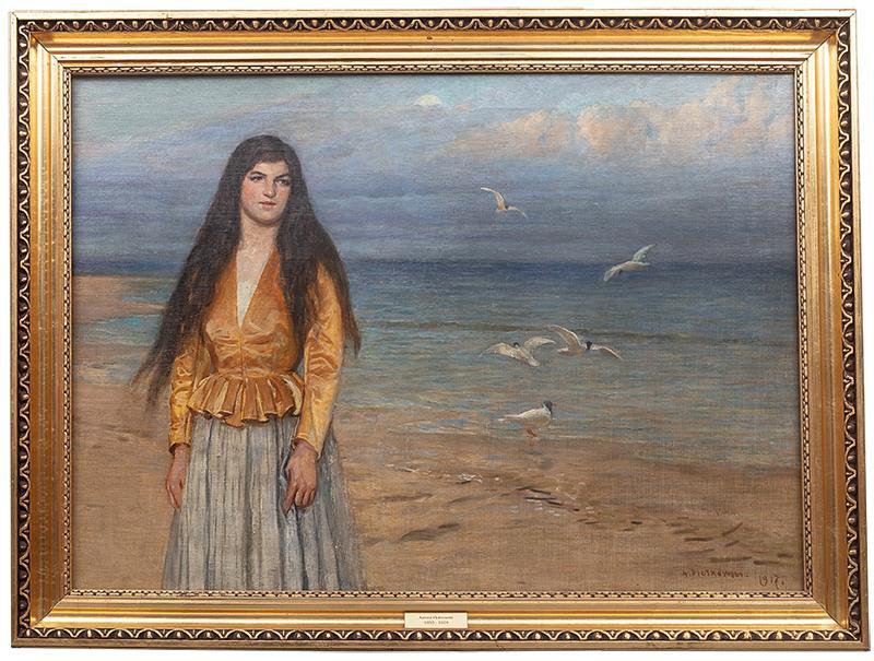 Dziewczyna na tle morza, 1917 r. - 2