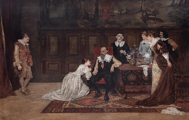 Błaganie o zgodę na mariaż, 1887 r. - 1