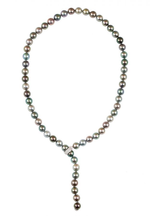 Naszyjnik z pereł Tahiti, proj. Mikimoto, współczesny - 1