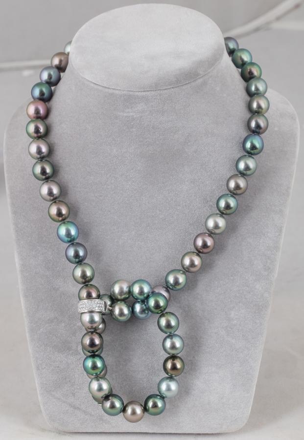 Naszyjnik z pereł Tahiti, proj. Mikimoto, współczesny - 2