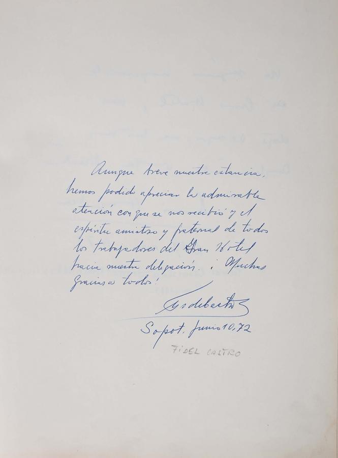 Księga pamiątkowa z wpisami gości Grand Hotelu w Sopocie z lat 1967–1977 - 11