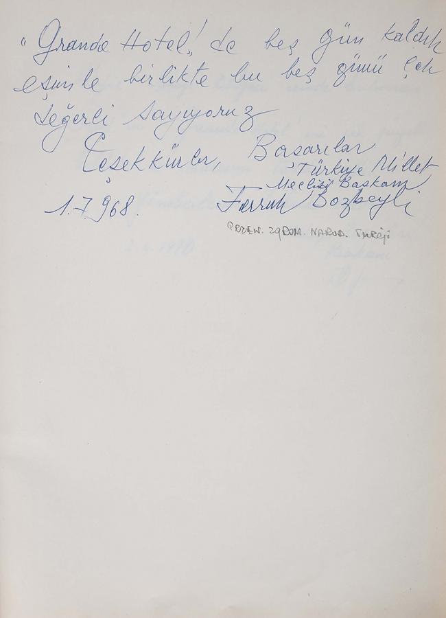 Księga pamiątkowa z wpisami gości Grand Hotelu w Sopocie z lat 1967–1977 - 6