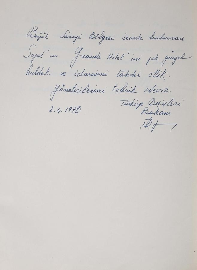 Księga pamiątkowa z wpisami gości Grand Hotelu w Sopocie z lat 1967–1977 - 7