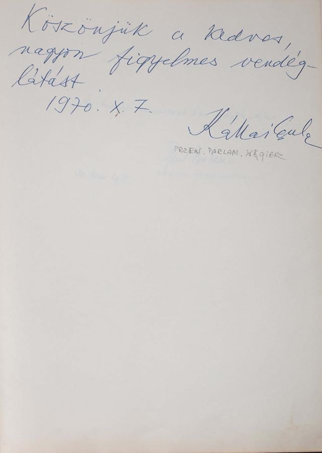 Księga pamiątkowa z wpisami gości Grand Hotelu w Sopocie z lat 1967–1977 - 9