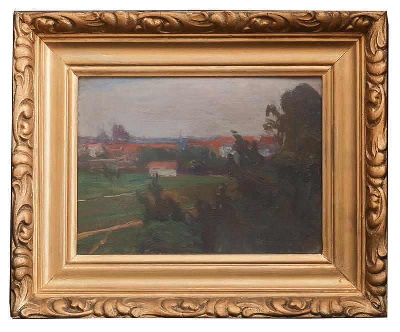 Pejzaż z zabudowaniami, 1919 r. - 2