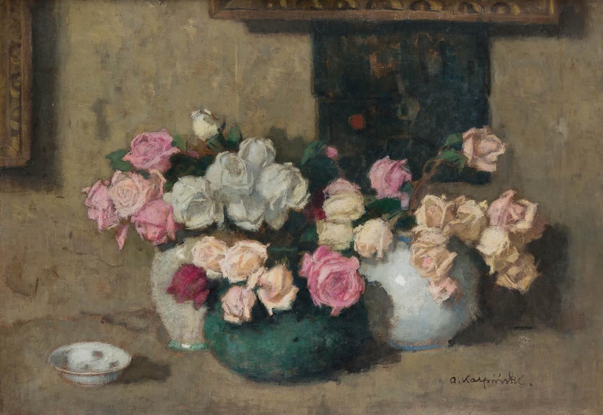 Trzy bukiety kwiatów, ok. 1914 r. - 2