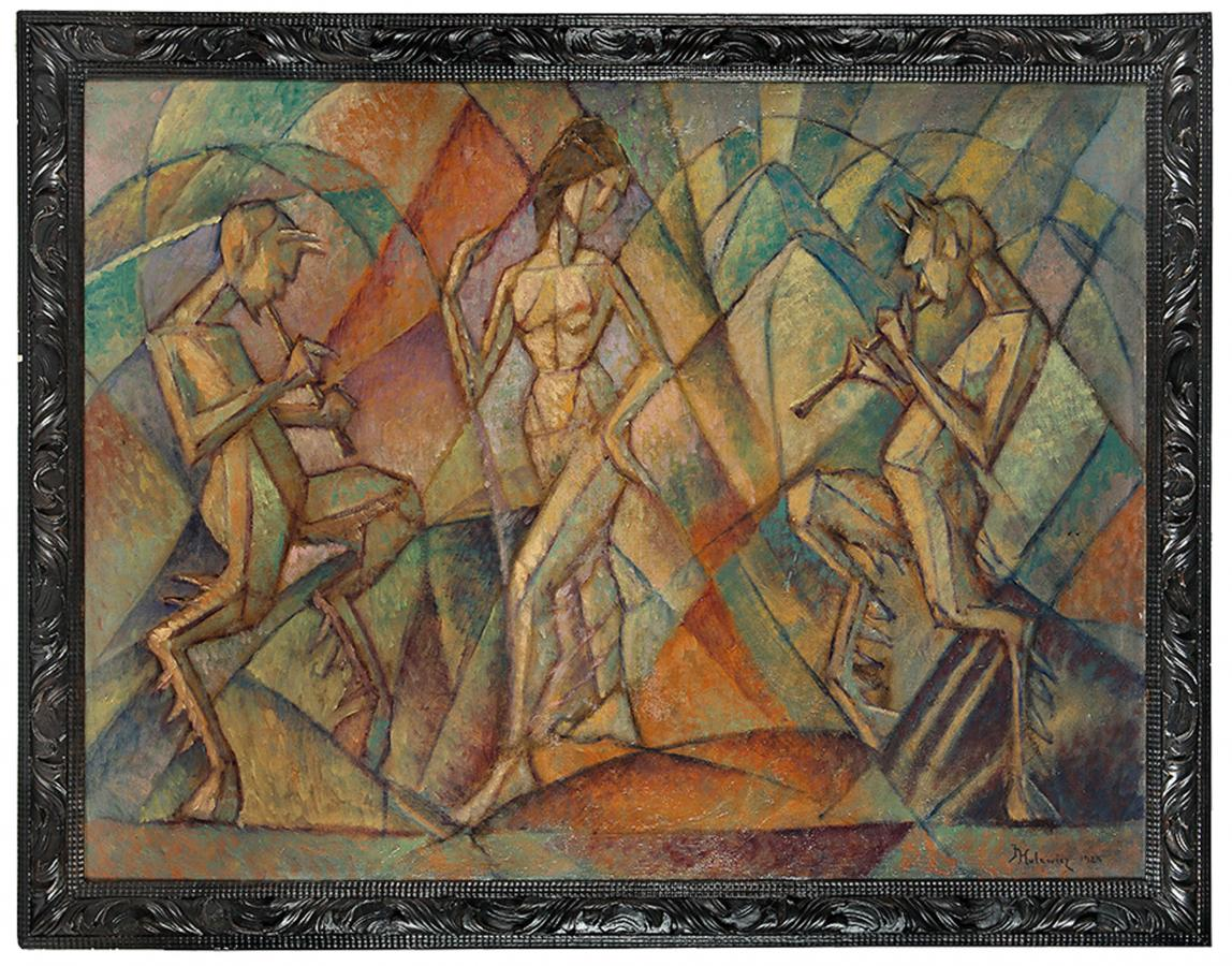 Tancerka i grające fauny, 1925 r. - 1