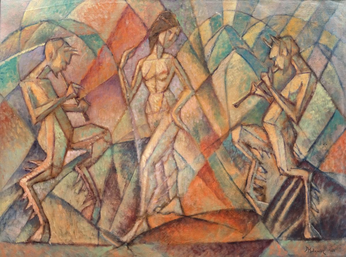 Tancerka i grające fauny, 1925 r. - 2