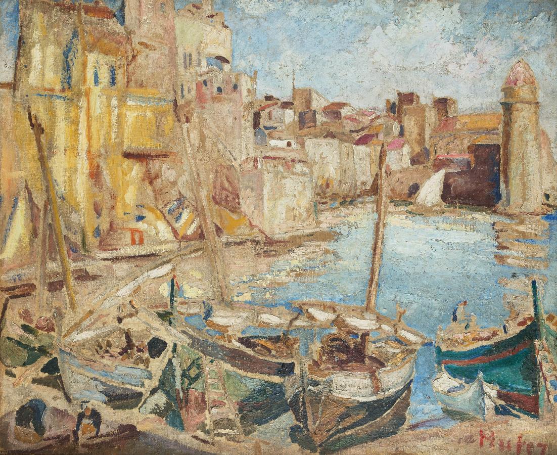 Port w Collioure, lata 20-te XX w. - 2