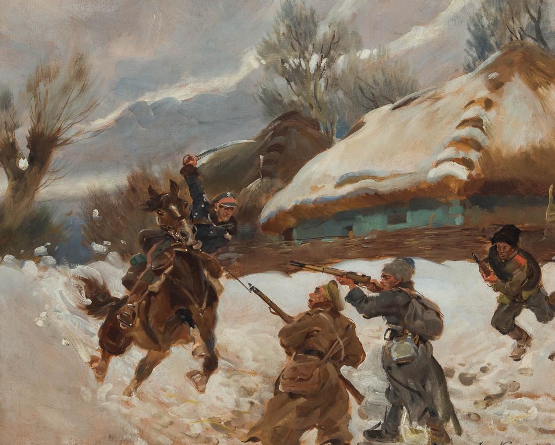 Atak na bolszewików, 1940 r. (?) - 2