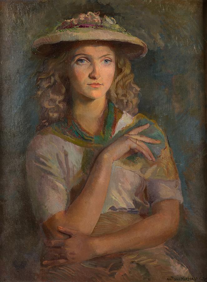 Portret kobiety, 1949 r. - 1