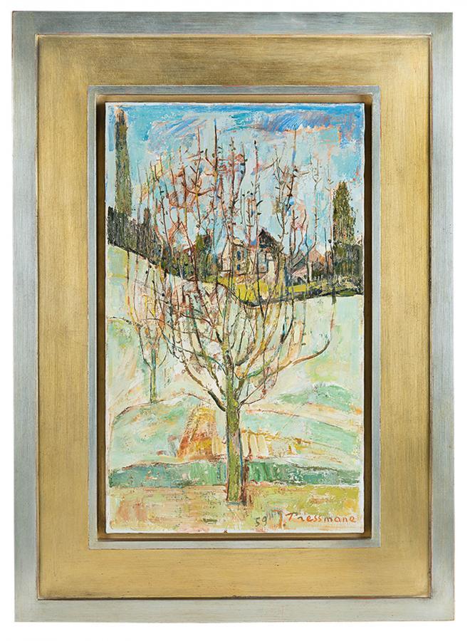 Drzewo w moim ogrodzie w Villiers-le-Bel, 1959 r. - 1