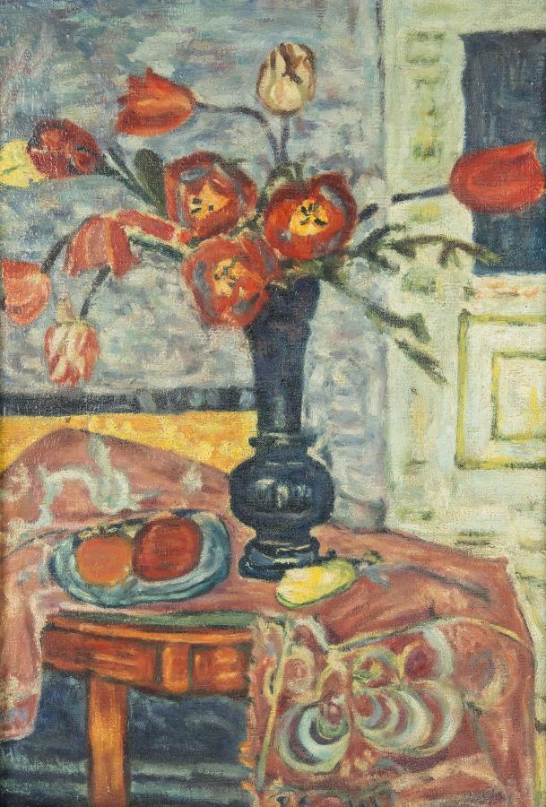 Martwa natura z tulipanami, l.30-ste XX w. - 2