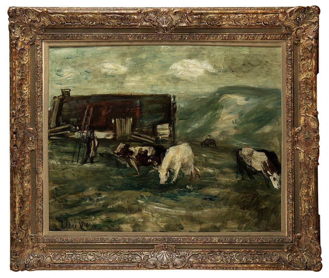 Pejzaż z krowami - 2