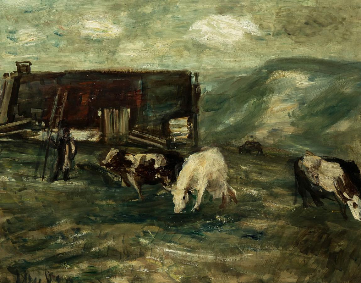 Pejzaż z krowami - 3